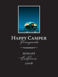2016 Happy Camper Merlot - Label