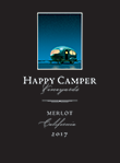 2017 Happy Camper Merlot - Label